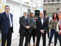 Ministro Eduardo Bonomi, acompañado del intendente Daniel Martínez, en inauguración de obras en la ex plaza de deportes n.° 1