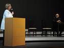 Ministra de Educación y Cultura, María Julia Muñoz, al expresarse respecto al homenajeado