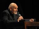 Actor, escritor y director Villanueva Cosse al expresarse respecto al homenaje recibido