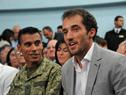 Deportistas Andrés Zamora y Emiliano Lasa