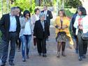 Llegada de María Auxiliadora Delgado junto a autoridades del Programa de Salud Bucal