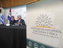 Ministro Tabaré Aguerre, en conferencia de prensa