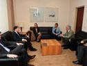 Vázquez, acompañado de Lilian Kechichian y Benjamín Liberoff,  recibe al secretario general de la Organización Mundial de Turismo, Taleb Rifai