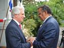 Presidente Tabaré Vázquez junto a director de OMS (Organización Mundial de la Salud), Tedros Adhanom Ghebreyesus