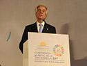 Presidente Vázquez y ministro Basso recibieron en sede del Mercosur al director de OMS, Tedros Adhanom Ghebreyesus