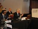 Presidente Tabaré Vázquez junto a Tedros Adhanom Ghebreyesus, presidente de OMS