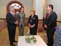 Presidente Tabaré Vázquez, en diálogo con autoridades