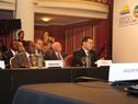 Autoridades durante la Conferencia