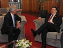 Presidente Tabaré Vázquez junto a presidente de Paraguay, Horacio Cartes