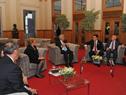 Presidente Tabaré Vázquez junto a presidentes de Chile, Michelle Bachelet, y de Paraguay, Horacio Cartes
