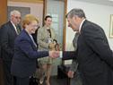 Canciller Rodolfo Nin Novoa saluda a la ministra de Salud de Rusia, Veronika Skvortsova
