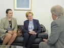 Vázquez recibió a la ministra de Salud de Rusia, Veronika Skvortsova