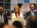 Ministra Carolina Cosse junto a presidente de UTE, Gonzalo Casaravilla