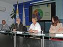 Ministra de Turismo, Liliam Kechichian, haciendo uso de la palabra