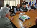 Ministro de Ganadería, Tabaré Aguerre, en reunión con productores lecheros