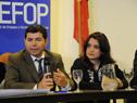 Director general de Inefop y director nacional de Empleo del Ministerio de Trabajo y Seguridad Social, Eduardo Pereyra, haciendo uso de la palabra