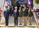 El presidente Tabaré Vázquez y el ministro de Defensa, Jorge Menéndez, en el aniversario del Estado Mayor de la Defensa