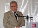 Ministro de Defensa Nacional, Jorge Menéndez, haciendo uso de la palabra