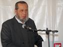 Presidente de la Administración Nacional de Puertos, Alberto Díaz, dirigiéndose a los presentes