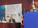 Ministra Marina Arismendi pronuncia discurso