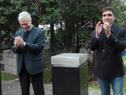 Ministro de Salud Pública, Jorge Basso acompañado por el Intendente de Salto, Andrés Lima descubren placa de inauguración