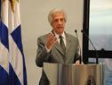 Presidente Tabaré Vázquez, haciendo uso de la palabra