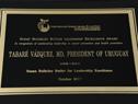 Ceremonia de entrega de reconocimiento a Presidente Tabaré Vázquez
