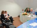 Ministro Víctor Rossi junto a autoridades del MTOP reunidos con vecinos del departamento de Flores