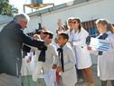 Vázquez saluda a escolares de la Escuela N.° 4 Jaime Ribot Mestre