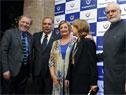 Actor Arturo Puig, embajador Héctor Lescano, ministra Liliam Kechichian, actriz Selva Alemán y subsecretario de Turismo Benjamín Liberoff