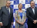Embajador Uruguayo en Argentina, Héctor Lescano, ministra de Turismo Liliam Kechichian y  José Gustavo Santos, ministro de turismo de Argentina