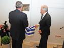 Presidente Tabaré Vázquez y fiscal Jorge Díaz descubren placa de inauguración