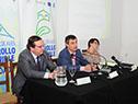 """Álvaro García, José Luis Falero y Mireia Villar Forner, en el ciclo """"Desafíos del proceso de municipalización en Uruguay"""""""