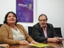 Cecilia Bianco, presidente de Mevir, haciendo uso de la palabra