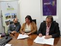 Firma de convenio entre Mevir e Inacoop