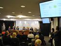Vicepresidente de desarrollo de negocios de UPM en Uruguay, Jaakko Sarantola, haciendo uso de la palabra