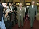 Vicepresidenta Lucía Topolansky recibe al presidente Tabaré Vázquez