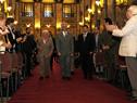 Vicepresidenta Lucía Topolansky y presidente Tabaré Vázquez ingresan al Salón de los Pasos Perdidos