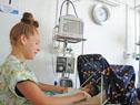 Visita de Quian al hospital de Salto