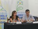 Coordinadora del Programa Uruguay Integra, María de Barbieri, junto al director de OPP, Álvaro García