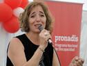 Directora del Programa Nacional de Discapacidad del Mides, Begoña Grau, haciendo uso de la palabra