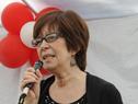Ministra Marina Arismendi, haciendo uso de la palabra