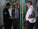 Recorrida del ministro Jorge Menéndez al buque Capitán Miranda