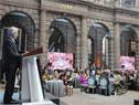 Presidente Tabaré Vázquez habla en la conferencia sobre el cáncer en México