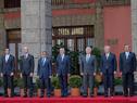 Autoridades integrantes de la comitiva oficial de Uruguay. (Fotografía: Presidencia de México)