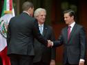 Presidente Tabaré Vázquez, junto a presidente de México, Enrique Peña Nieto. (Fotografía: Presidencia de México)
