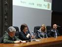 Ministra de Desarrollo Social, Marina Arismendi, dirigiéndose a los presentes