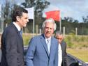 Arribo del presidente de la República, Tabaré Vázquez