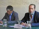 Titular de ANP, Alberto Díaz, haciendo uso de la palabra
