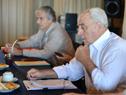 Ministro de Transporte, Víctor Rossi, brindó una conferencia de prensa en la sede del ministerio